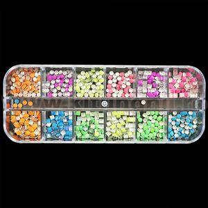 Strasuri unghii Neon Joy - Set 12 bucati imagine
