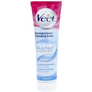 Veet Silk & Fresh crema depilatoare pentru picioare pentru piele sensibila imagine