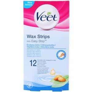 Veet Wax Strips benzi depilatoare cu ceara rece pentru piele sensibila imagine