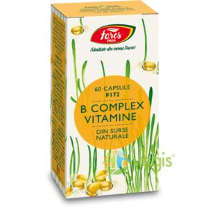 B Complex Vitamine Naturale (F172) 60cps imagine