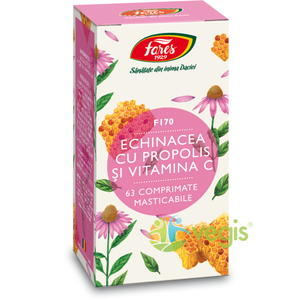 Echinacea, Propolis + Vitamina C (F170) 63cpr imagine