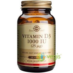 Vitamina D3 1000iu 100cps imagine