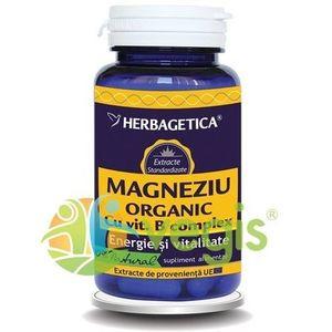 Magneziu Organic Cu B-Complex 60cps imagine