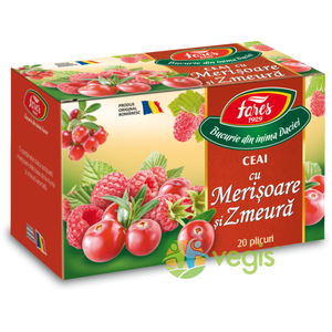 Ceai Aromfruct Merisoare Si Zmeura 20dz imagine