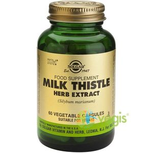 Milk Thistle Herb Extract 60cps (Extract din planta de Silimarina) imagine