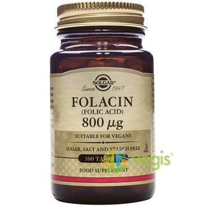 Folacin (Acid Folic) 800ug 100 caps veg - imagine