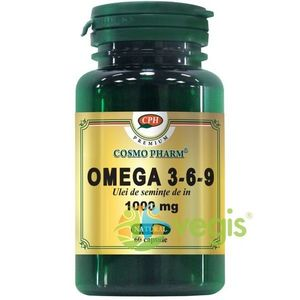 Ulei Seminte De In (Omega 3-6-9) 60cps Premium imagine