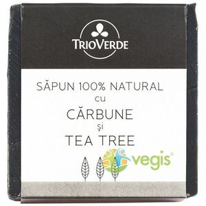 Sapun Natural Cu Carbune Si Tea Tree 110Gr imagine