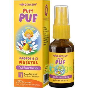 Pufy Puf Ingerasul - Propolis Si Musetel Spray Fara Alcool 20ml imagine