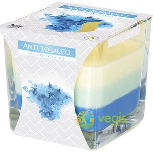 Lumanare Parfumata in Pahar Trei Culori cu Aroma Antitabac imagine