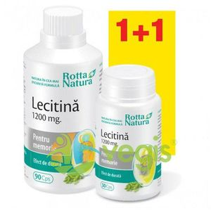 Lecitina 1200mg 90cps+30cps imagine