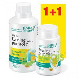 Evening Primrose + Vitamina E 90Cps+30Cps Gratis imagine