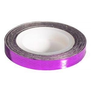 Banda Decor Unghii - Purple Waves Line imagine