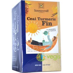 Ceai Turmeric Fin cu Rooibos si Vanilie Ecologic/Bio 18dz imagine