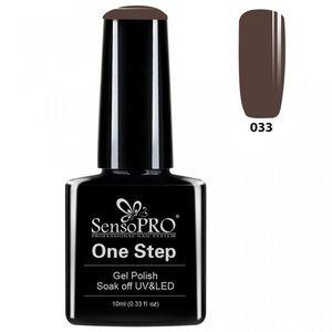 Oja Semipermanenta SensoPRO One Step 10ml - #033 Cool Brown imagine