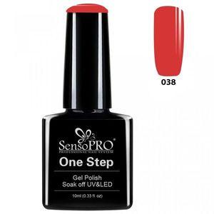 Oja Semipermanenta SensoPRO One Step 10ml - #038 Famous Red imagine