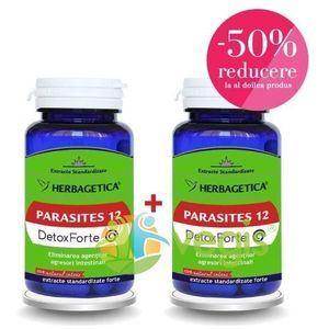 Parasites 12 Detox Forte 60Cps 1+1-50% imagine