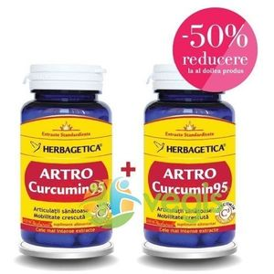 Artro Curcumin 95 60cps Pachet 1+1-50% imagine