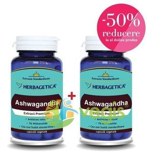 Ashwagandha 60Cps 1+1-50% imagine