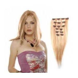 Extensii clip - on Veritable cu 10 piese, lungime 50 cm , culoare blond aramiu ( # 27 ) imagine