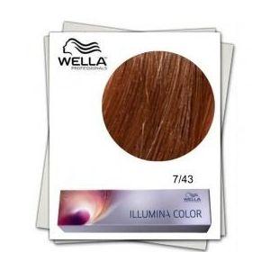 Vopsea Permanenta - Wella Professionals Illumina Color Nuanta 7/43 blond mediu rosu auriu imagine