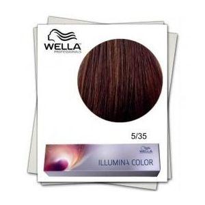 Vopsea Permanenta - Wella Professionals Illumina Color Nuanta 5/35 castaniu deschis auriu mahon imagine