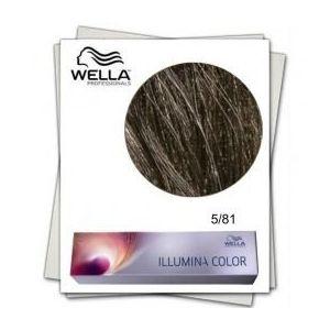 Vopsea Permanenta - Wella Professionals Illumina Color Nuanta 5/81 castaniu deschis albastru cenusiu imagine