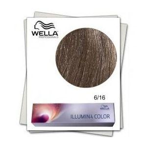 Vopsea Permanenta - Wella Professionals Illumina Color Nuanta 6/16 blond inchis cenusiu violet imagine