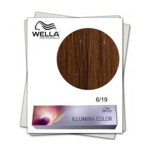 Vopsea Permanenta - Wella Professionals Illumina Color Nuanta 6/19 blond inchis cenusiu perlat imagine