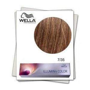 Vopsea Permanenta - Wella Professionals Illumina Color Nuanta 7/35 blond mediu auriu mahon imagine