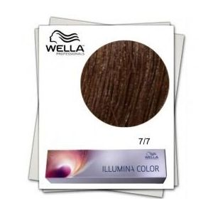 Vopsea Permanenta - Wella Professionals Illumina Color Nuanta 7/7 blond mediu maro imagine
