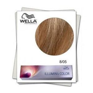 Vopsea Permanenta - Wella Professionals Illumina Color Nuanta 8/05 blond deschis natural mahon imagine
