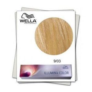 Vopsea Permanenta - Wella Professionals Illumina Color Nuanta 9/03 blond luminos natural auriu imagine