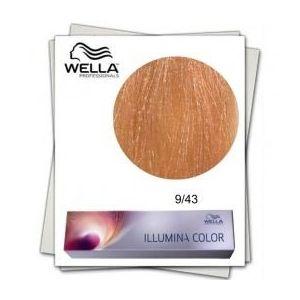 Vopsea Permanenta - Wella Professionals Illumina Color Nuanta 9/43 blond luminos aramiu auriu imagine
