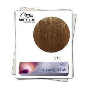 Vopsea Permanenta - Wella Professionals Illumina Color Nuanta 8/13 blond deschis cenusiu auriu imagine