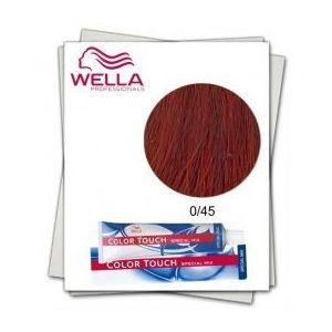 Vopsea fara Amoniac Mixton - Wella Professionals Color Touch Special Mix nuanta 0/45 roscat mahon imagine