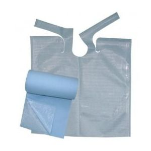 Rola Bavete Cosmetice Albastre - Prima Nursing Bib with Ties Roll 61 x 53 cm imagine