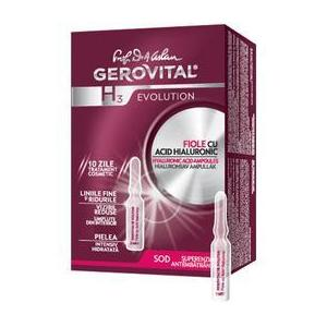 Fiole cu Acid Hialuronic 5% - Gerovital H3 Evolution Hyaluronic Acid Ampoules, 10 fiole x 2 ml imagine