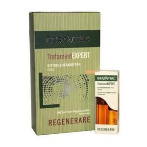 Kit Regenerare Par Fiole - Gerovital Tratament Expert Kit for Hair Regeneration Ampoules, 20 fiole imagine