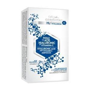 Fiole cu Acid Hialuronic - Gerovital H3 Hyaluron C Hyaluronic Acid and Vitamin C Ampoules, 10 fiole x 2ml imagine