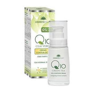 Crema Contur Ochi Q10 + Ceai Verde Cosmetic Plant, 30ml imagine