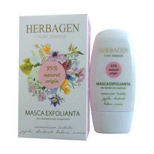 Masca Exfolianta pentru Ten Sensibil sau Cuperozic Herbagen, 50g imagine
