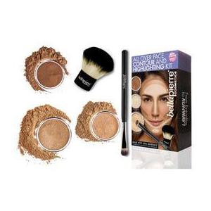 Set truse machiaj - All Over Face Highlight & Contour - Dark BellaPierre imagine