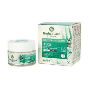 Crema Hidratanta de Zi/Noapte cu Aloe - Farmona Herbal Care Aloe Moisturizing Cream Day/Night, 50ml imagine
