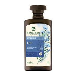 Sampon cu Extract de In pentru Par Uscat si Fragil - Farmona Herbal Care Flax Shampoo for Dry and Brittle Hair, 330ml imagine
