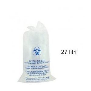 Sac Autoclavabil Transparent - Prima Autoclave Sterilization Clear Bag 27 litri imagine