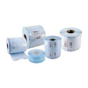 Rola cu Pliu Sterilizare Prima, pentru autoclav/EO, 100mm x 50mm x 100m imagine