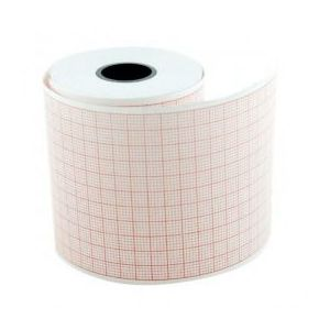 Hartie EKG Prima, pentru Schiller, caroiaj rosu, rola 130mm x 30m, 5 buc imagine