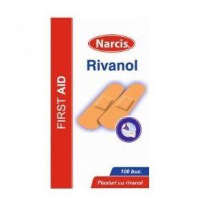Plasturi cu Rivanol Narcis, 2cm x 7cm, 100 buc imagine