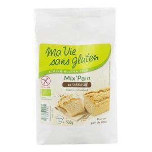 Amestec de paine cu hrisca fara gluten Ma vie sans gluten, bio, 500 g imagine